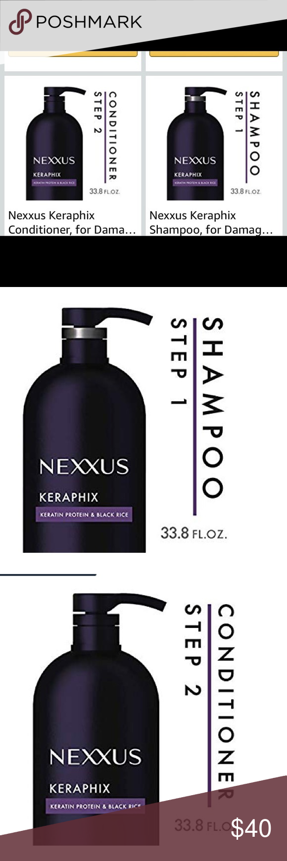 Nexxus Keraphix Shampoo Conditioner Nwt Shampoo Conditioner Nexxus
