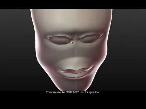 How to: Sculptris head/face tutorial (HD) - YouTube | Zbrush