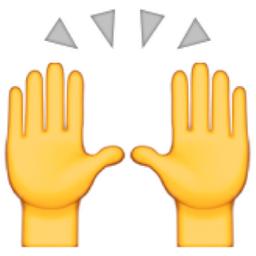 Person Raising Both Hands In Celebration Emoji U 1f64c U E427 Hand Emoji Hand Emoji Meanings Emojis Meanings