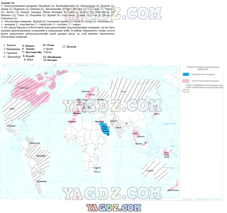 География рабочая тетрадь 10 класс максаковский ответы онлайн 2 тема