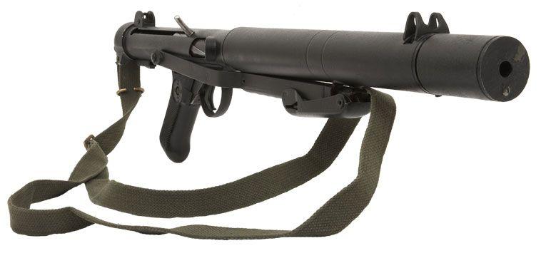 Sterling-Patchett L34A1 - Mk 5  9mm Submachine Gun  Silenced