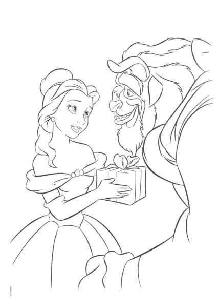 Beauty And The Beast Coloring