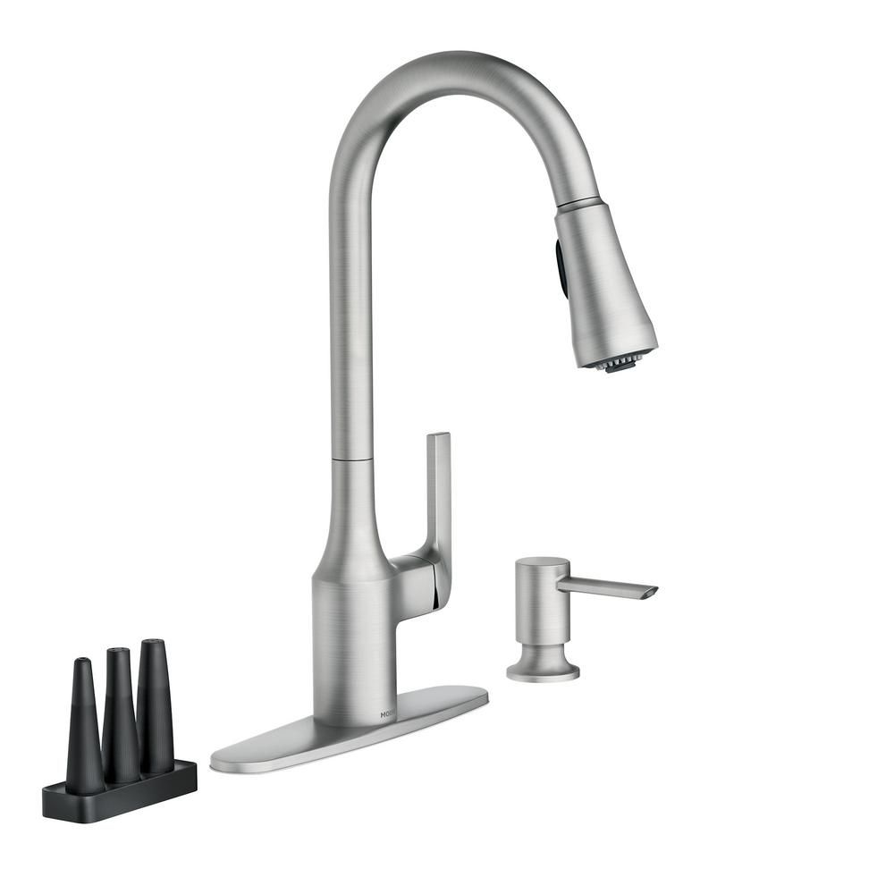 Moen Milton Single Handle Pull Down Sprayer Kitchen Faucet With