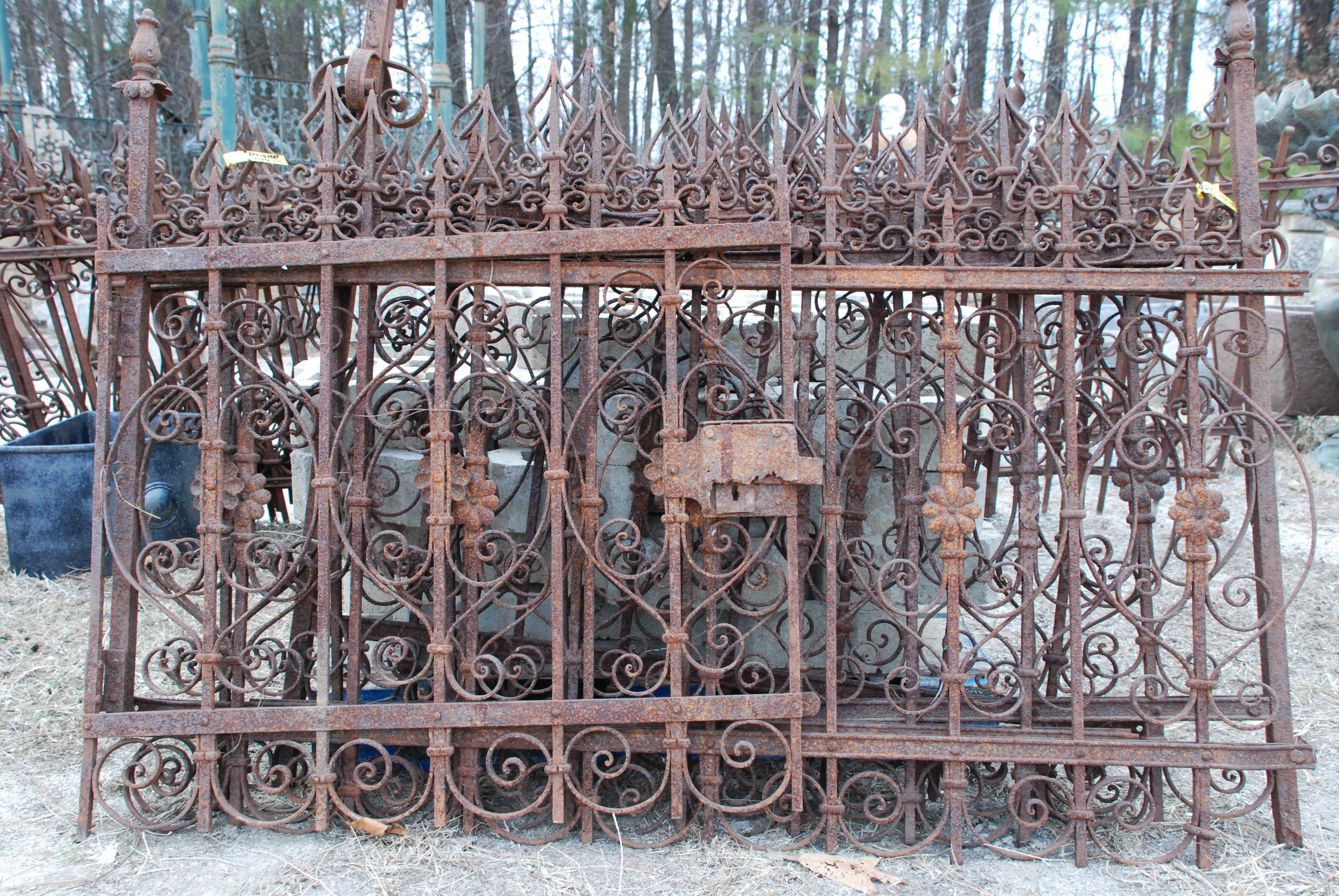 Antique Wrought Iron Fencing Antiques Antique Antique Fence Architectural Fence Wrought Iro Wrought Iron Fence Panels Wrought Iron Fences Cast Iron Fence
