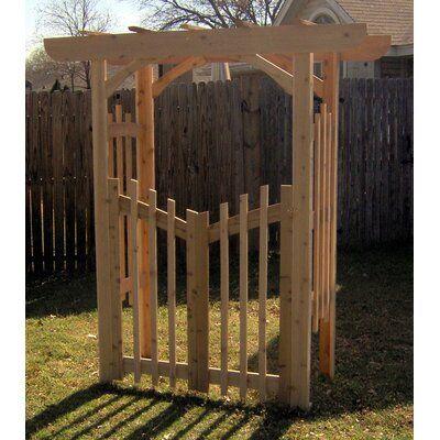 Decorative Cedar Wood Arbor with Gate