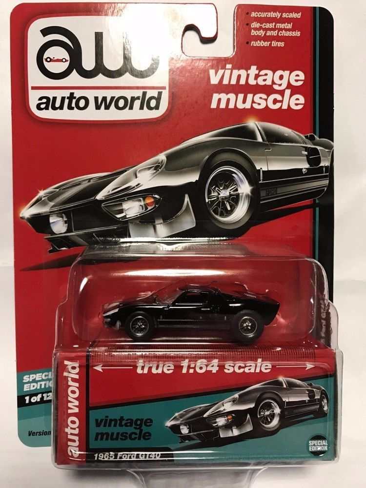 1:64 AUTO WORLD PREMIUM 2017 Release 2A - 1965 FORD GT40 - Perfect ...
