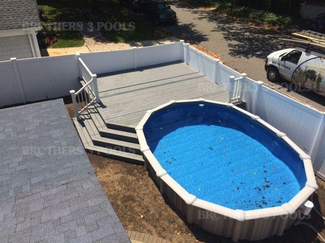 Semi Inground Brothers 3 Pools In 2019 Backyard Pool