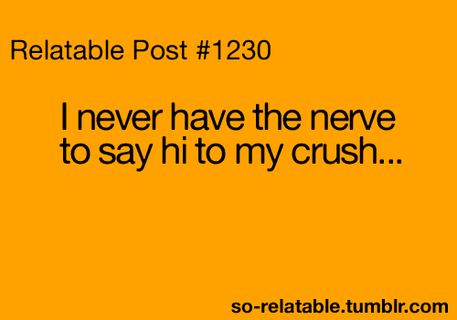 How do i say hi to my crush