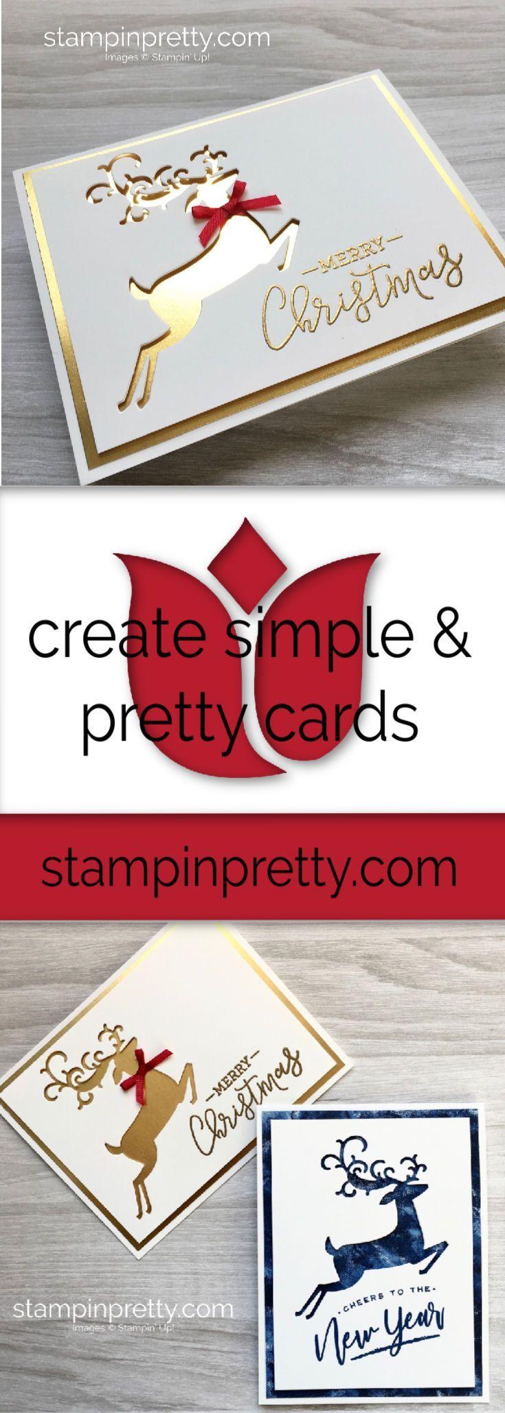 Zwei super einfache Weihnachtskarten - #Einfache #Super #Weihnachtskarten #Zwei #stampinup!cards