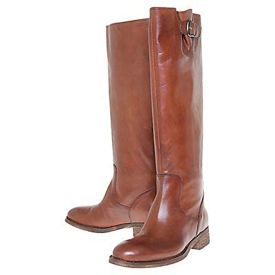 Buy Kurt Geiger Waterloo London Leather Knee Boots, Brown online at JohnLewis.com - John Lewis