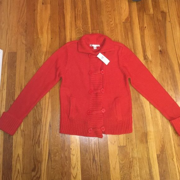 Red Sweater NWT Brand new, cherry red sweater with button closure ...