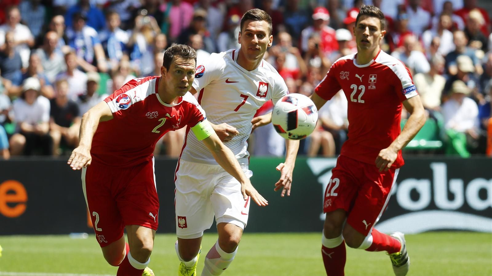 Euro 2016 last16 latest Switzerland v Poland Milik