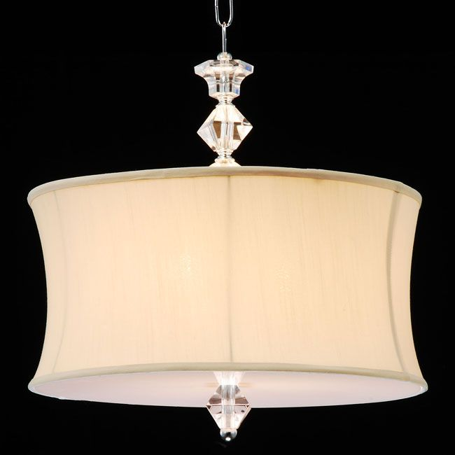 Overstock.com - Crystal and Acrylic Swag Plug-in Chandelier - The ...