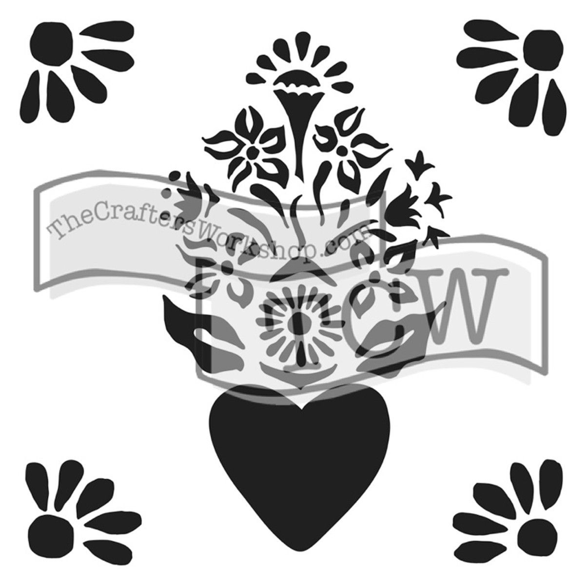 "The Crafter's Workshop Template 12""x12"" - Corazon"