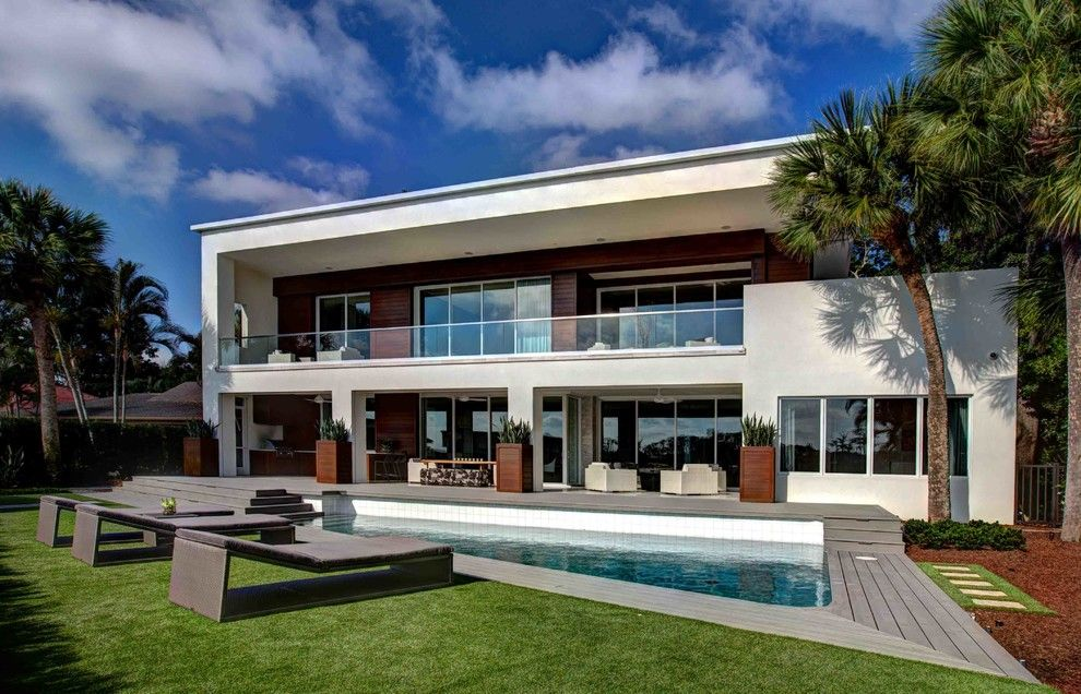 This modern dream house was designed by phil kean design group located in the community of bay point in monroe county florida