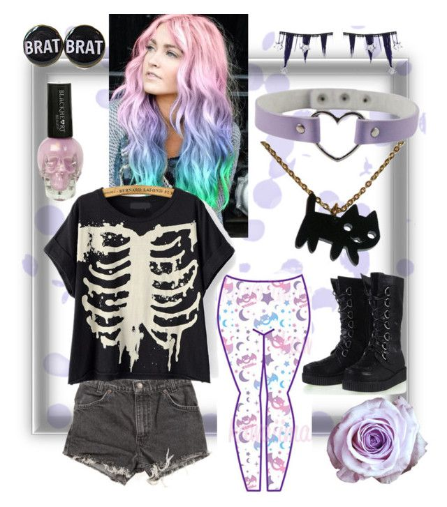 """""""A Pastel Goth-ish Outfit!"""" by my-fashions ❤ liked on Polyvore"""