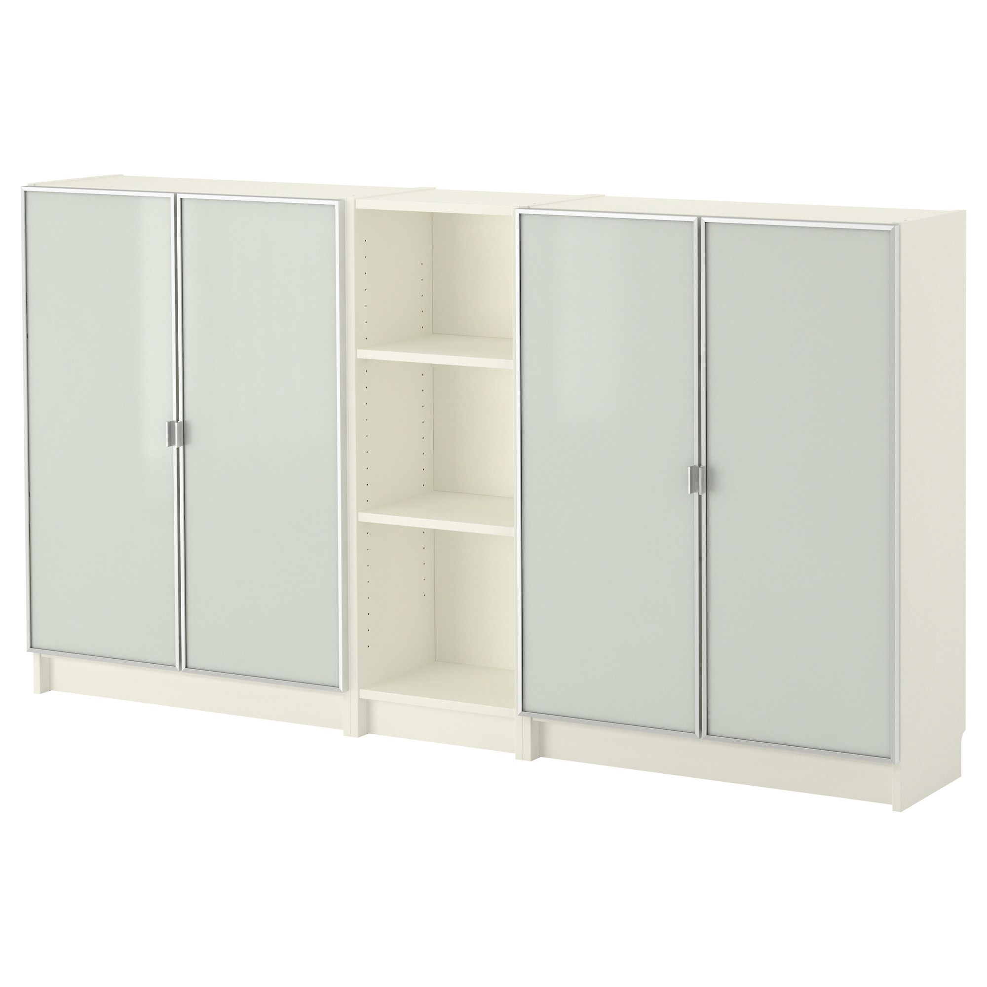 Billy Morliden Bookcase White 78 3 4x41 3 4x11 : White Bookcase With Doors