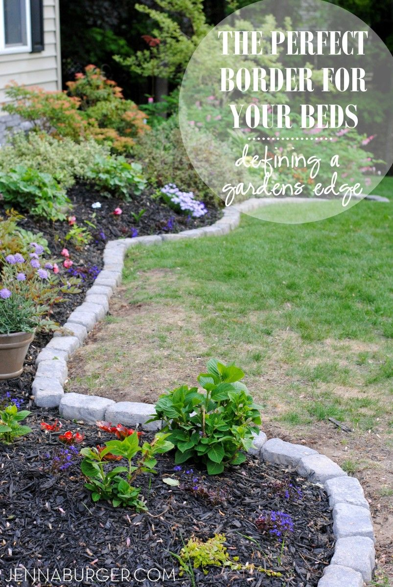 Charmant The Perfect Border For Your Beds: Defining A Gardens Edge With Inexpensive  Stone That Fit Any Shape Or Size Garden Bed. Details @ Www.jennaburger.com