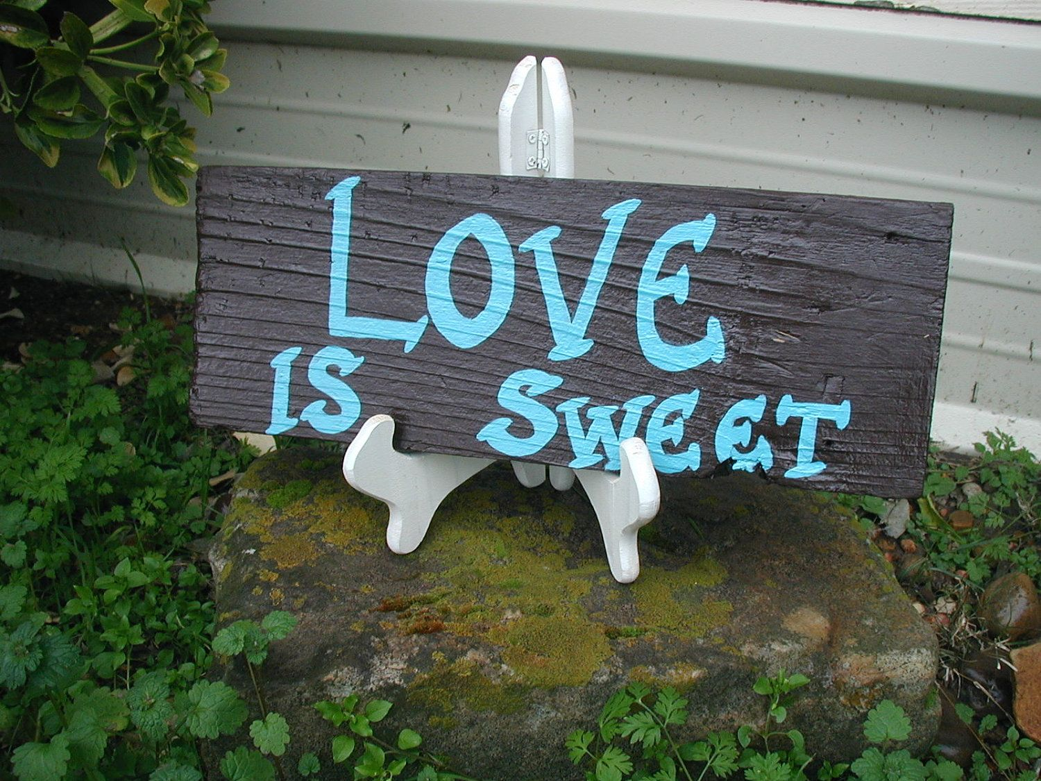 Chocolate brown love is sweet sign western by