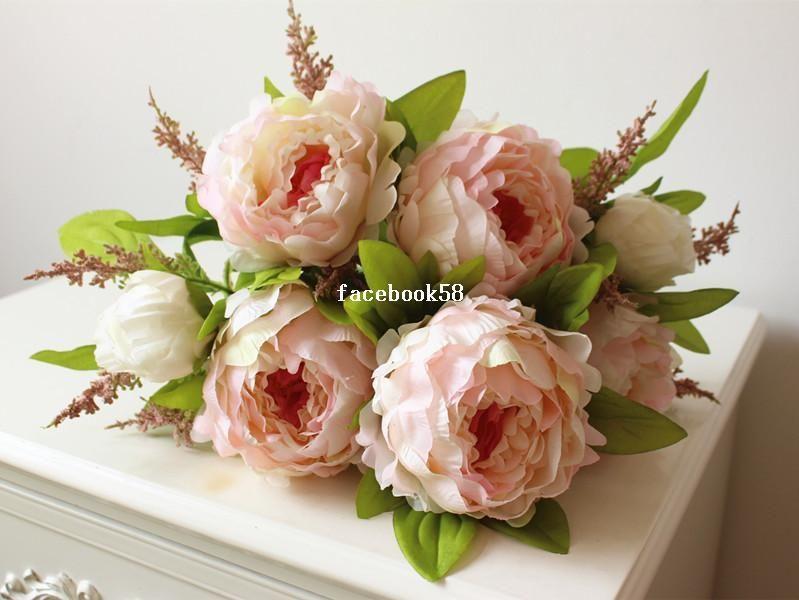 7 Heads/bunch 2014 New.Silk / Simulation / Artificial Flower Peony Flower Bouquet.., $14.44 | DHgate.com