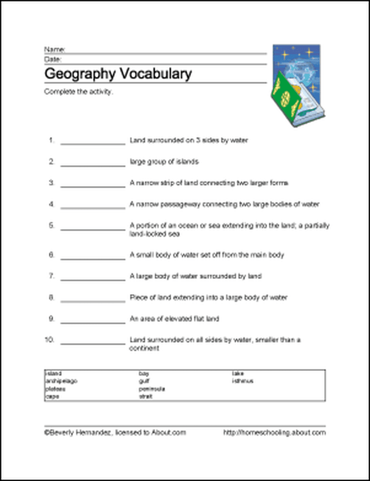 10 Worksheets That Will Teach Your Child Basic Geography ...