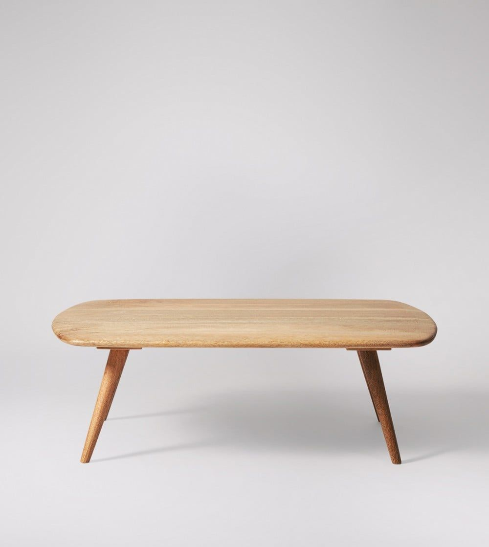 Akira Scandi Style Coffee Table In Natural Mango Wood Coffee Table Living Room Coffee Table Scandi Coffee Table