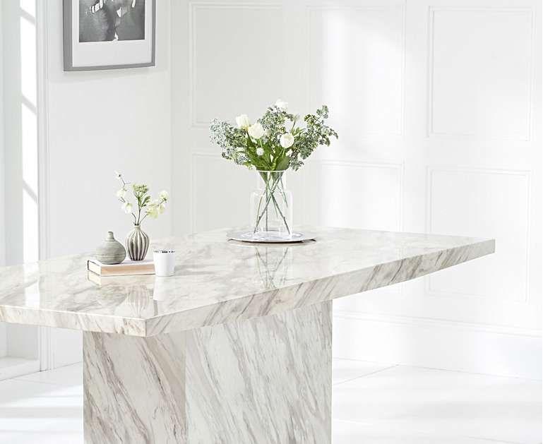 Calacatta 180cm Marble Dining Table