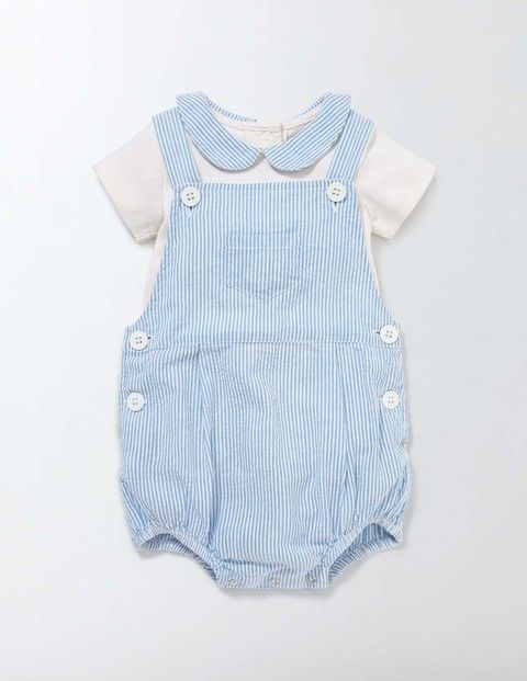 1d391175e0e5 Vintage Children s Clothing Pictures   Shopping Guide Ticking Romper Set  Bright Bluebell Stripe Baby Boden Bright Bluebell Stripe £28.00 AT  vintagedancer. ...