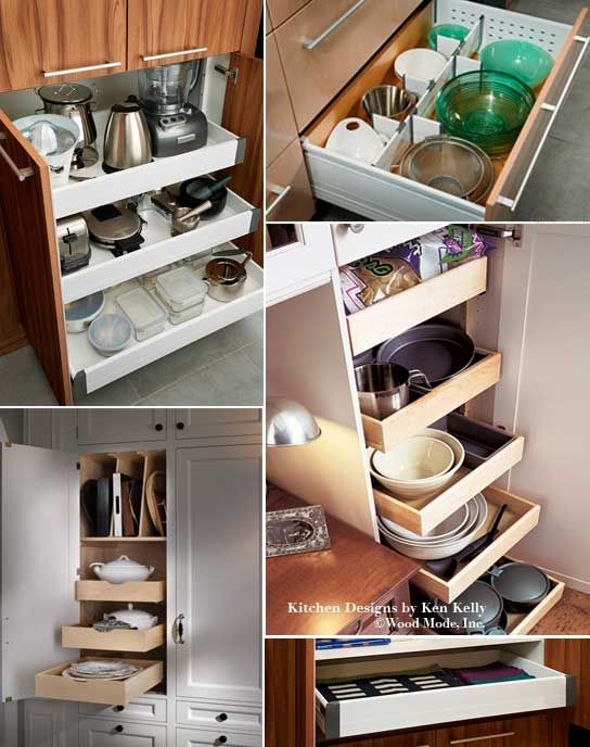 specialized kitchen storage to maximize and organize your space kitchen designs com the. Black Bedroom Furniture Sets. Home Design Ideas
