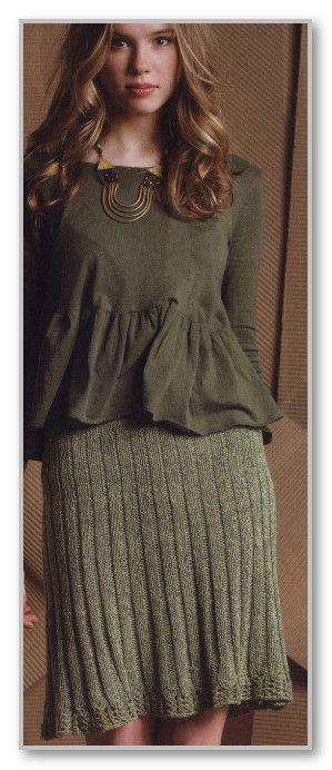 Складки для юбки спицами для женщин