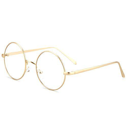 73722a0f5a Shop online Pro Acme Retro Round Metal Frame Clear Lens Glasses Non- Prescription. Explore