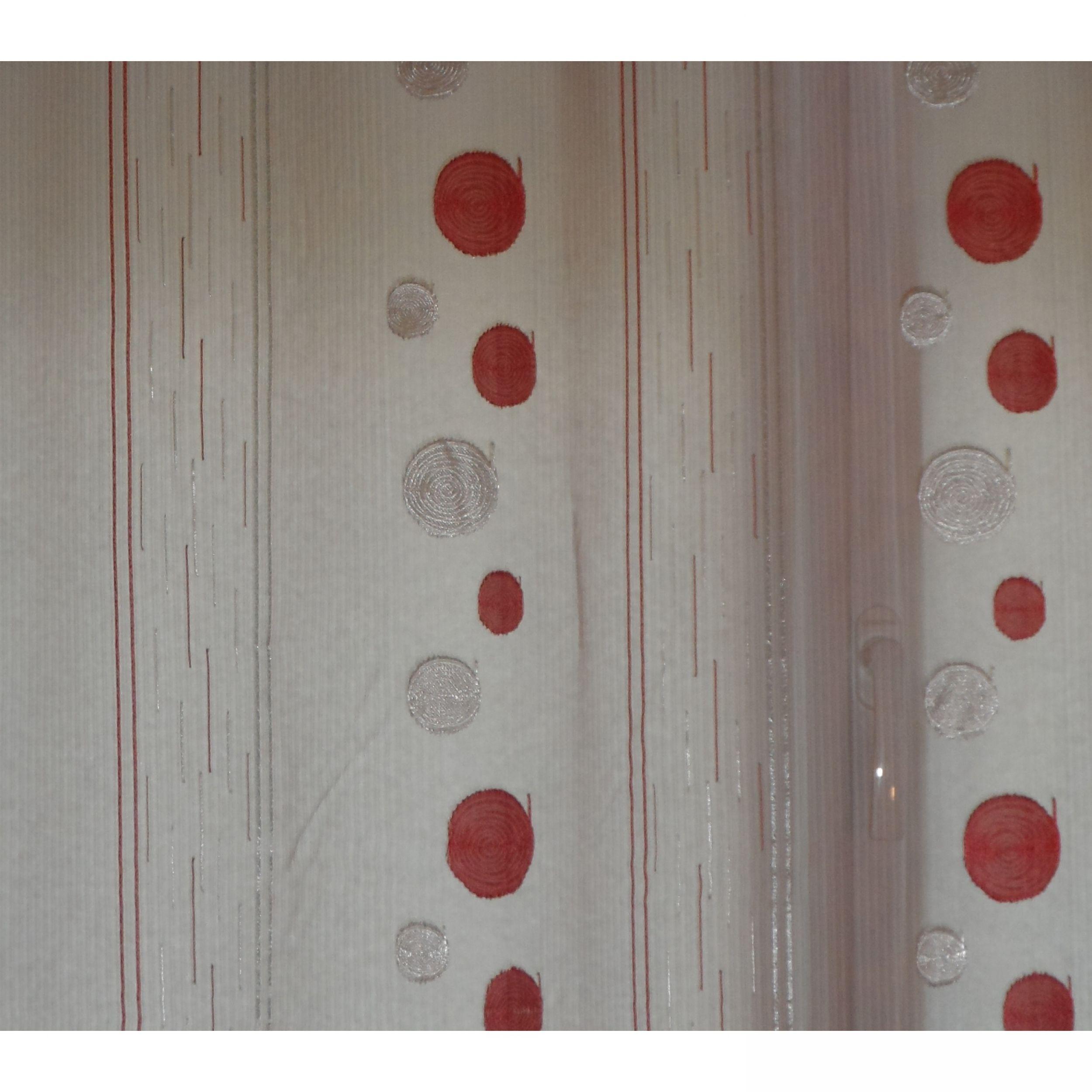 rideaux de cuisine rouge et blanc