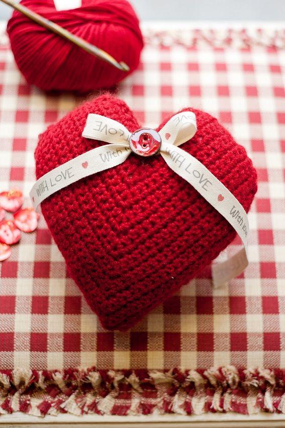 Crochet Heart Tutorial 4u Hilariafina Httppinterest