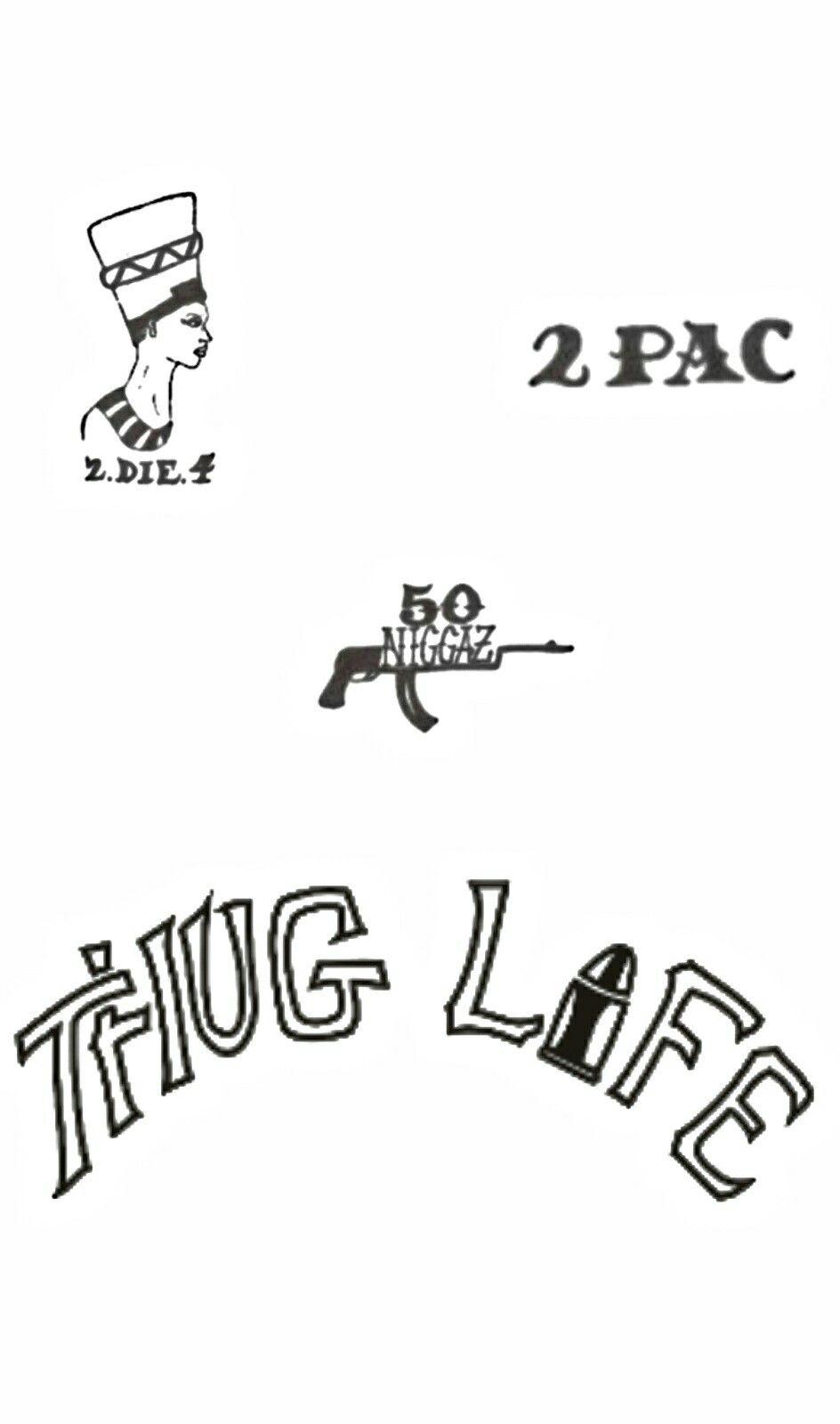 2pac Thug Life Wallpaper Tatuagem De Hip Hop Tatuagem Flash De Tatuagem [ 1600 x 944 Pixel ]
