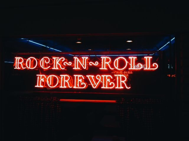 Rock n roll forever quot neon sign music