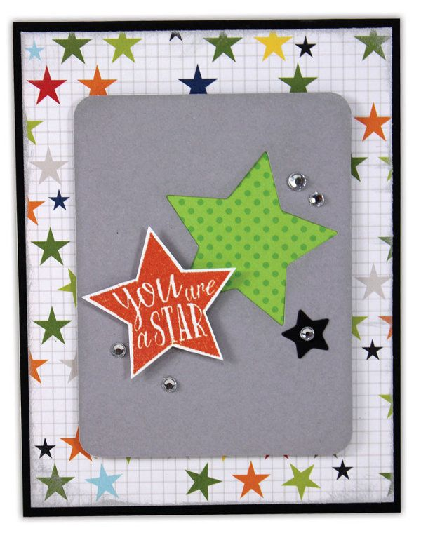 Rock Star Card by @Crafts Direct Click through link for supply list and project instructions