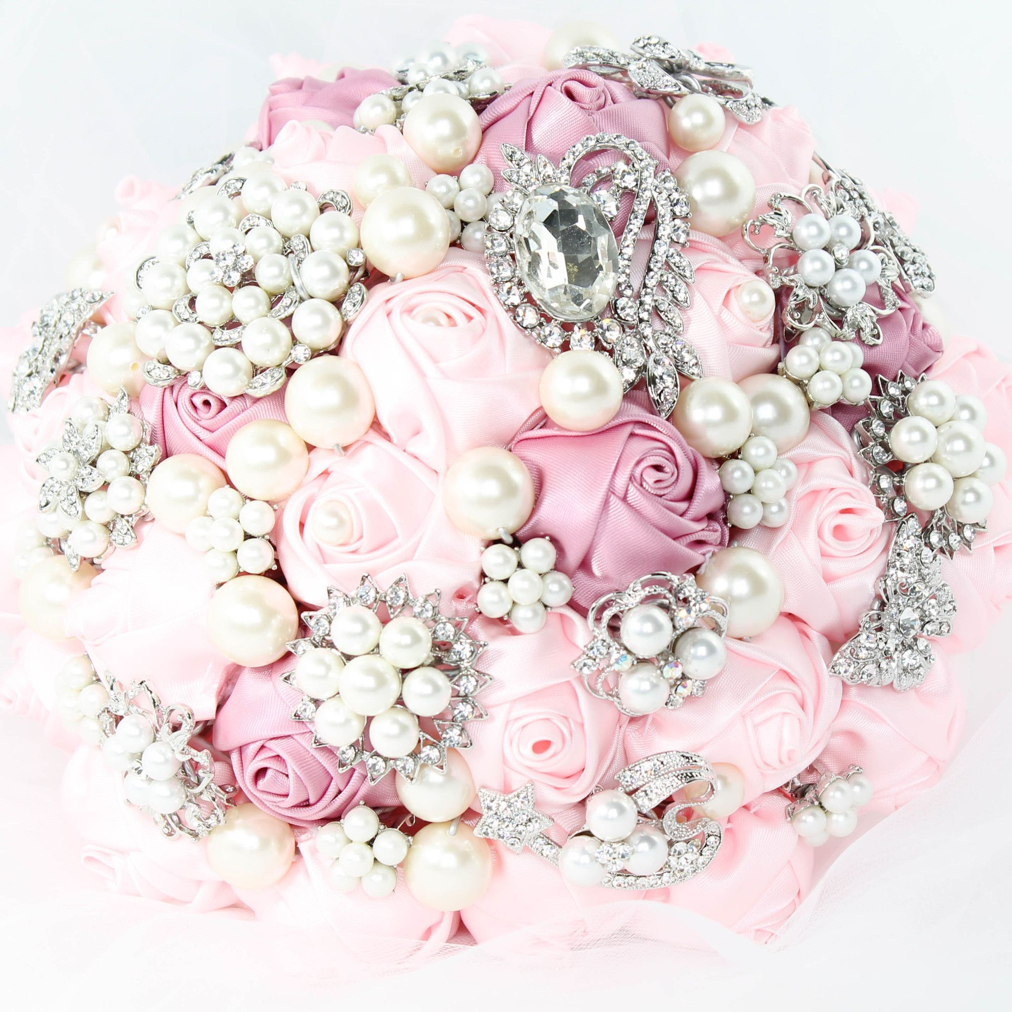 This brooch bouquet is handcrafted with beautiful brooches colorful this brooch bouquet is handcrafted with beautiful brooches colorful satin ribbon flowers in perfect combination izmirmasajfo