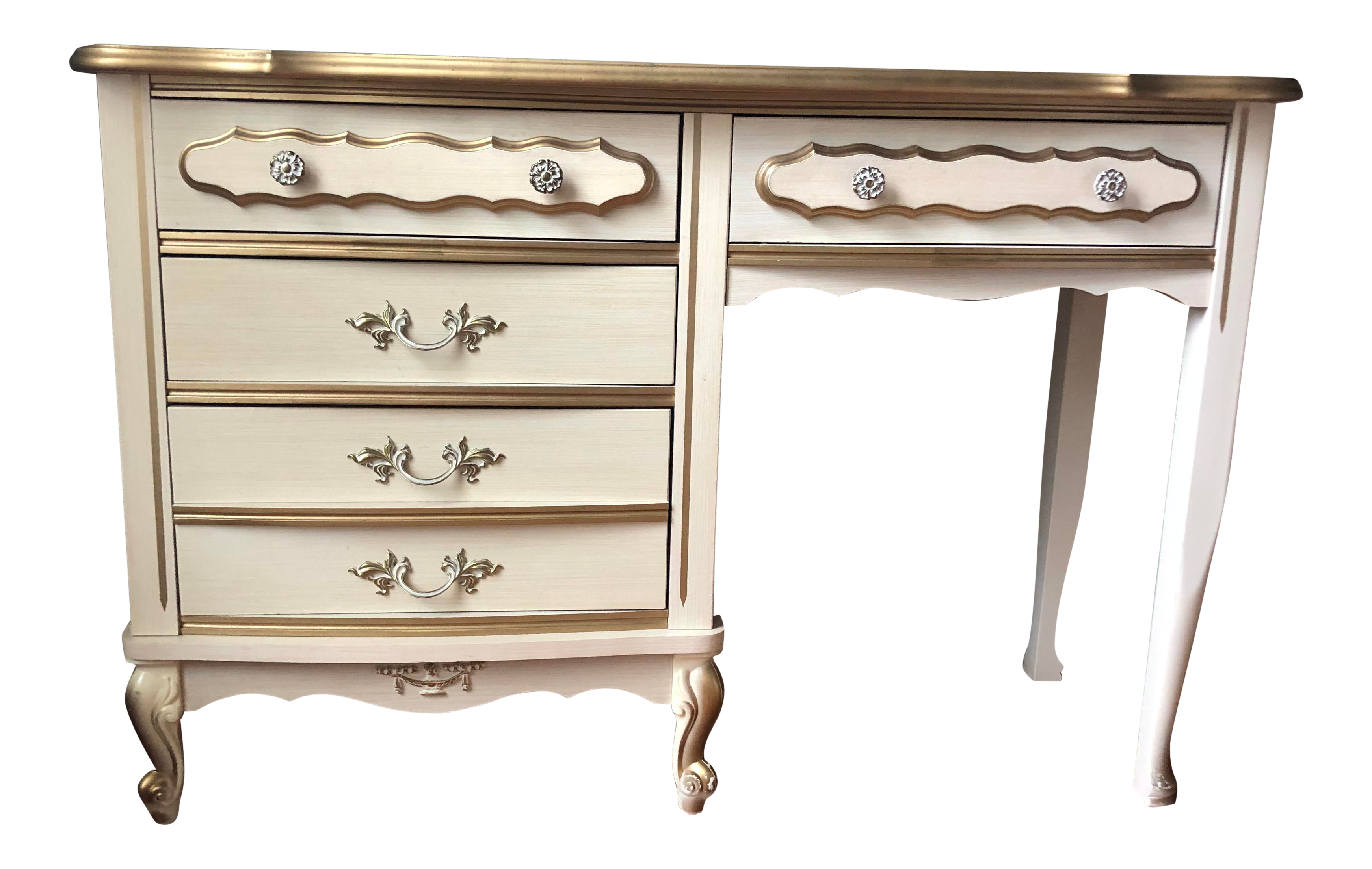 Vintage French Provincial Desk In 2020 French Provincial Dresser Makeover French Provincial French Provincial Furniture