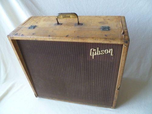 vintage 1960 gibson ga100 guitar bass tube amp amplifier no reserve guitar chords. Black Bedroom Furniture Sets. Home Design Ideas