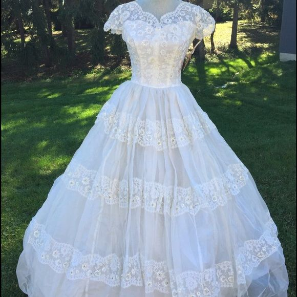 Vintage 1954 Saks 5th Ave Wedding Gown NEVER WORN Never worn, Saks ...