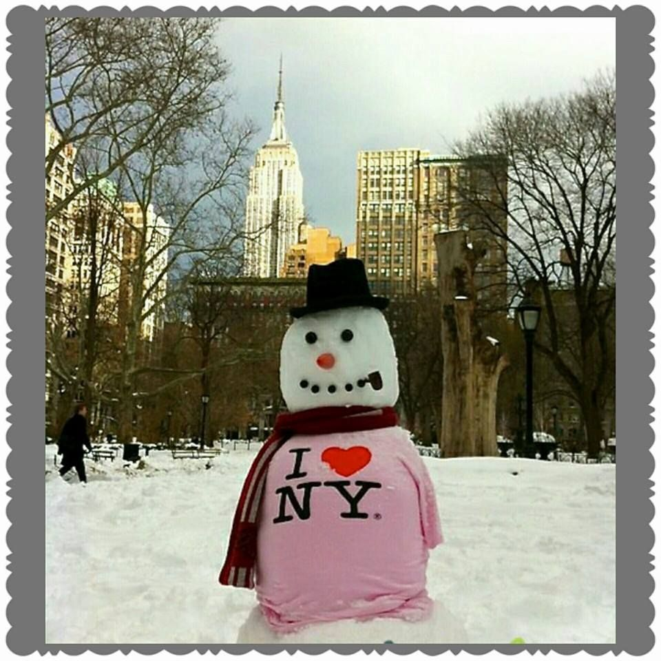 Mr Snowman Loves New York! (With images)   New york christmas, New york city, Nyc snow