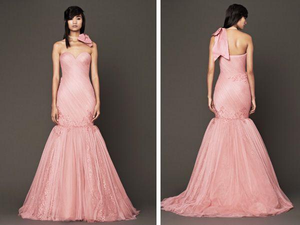 Vestido novia Vera Wang rosa corte sirena #boda   Vestidos de Novia ...