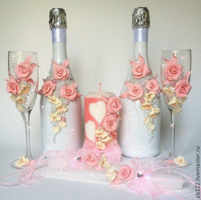 Copas botellas y velas decoradas decoraci n botellas - Copas decoradas con velas ...
