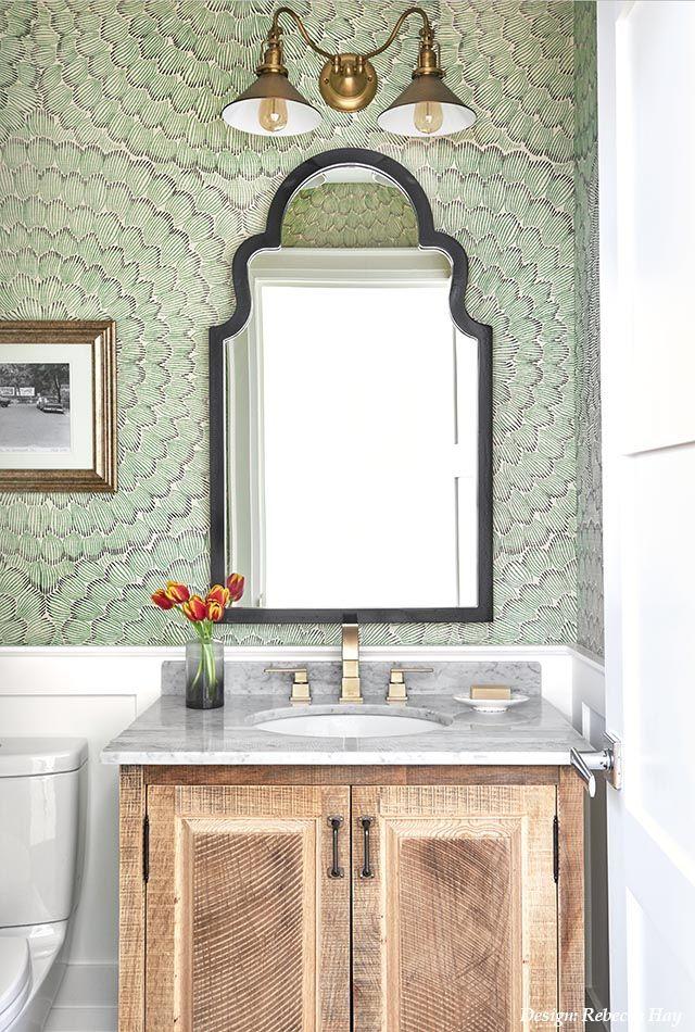 Beautiful Jewel Box Powder Room By Rebecca Hay Designs Small