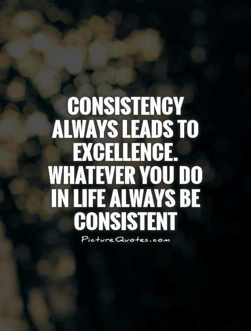 Be Consistent Quotes : consistent, quotes, Consistency, Always, Leads, Excellence., Whatever, Life,, Consistent., Quotes,, Sarcastic, Quotes, Funny,