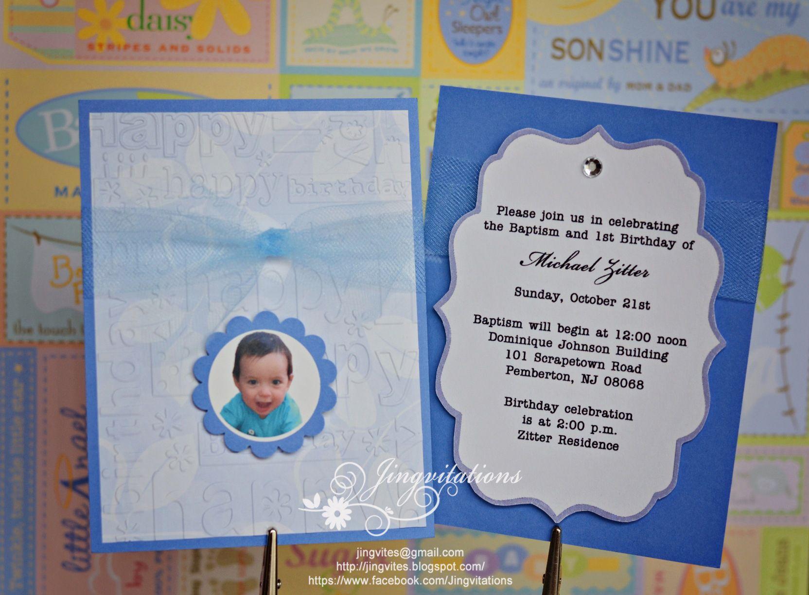 1st birthday and christeningbaptism invitation sample baptism 1st birthday and christeningbaptism invitation sample stopboris Images