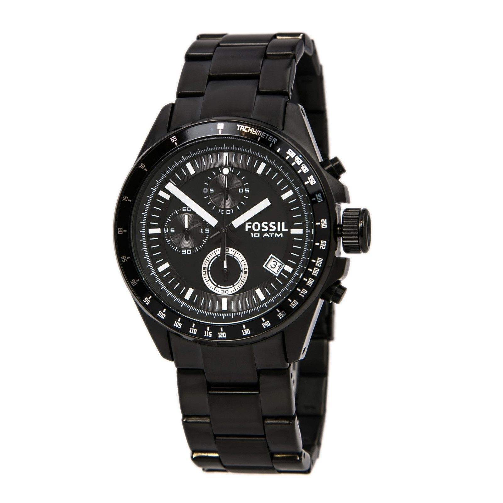 Fossil CH2601 Men's Decker Black Ion Plated Stainless