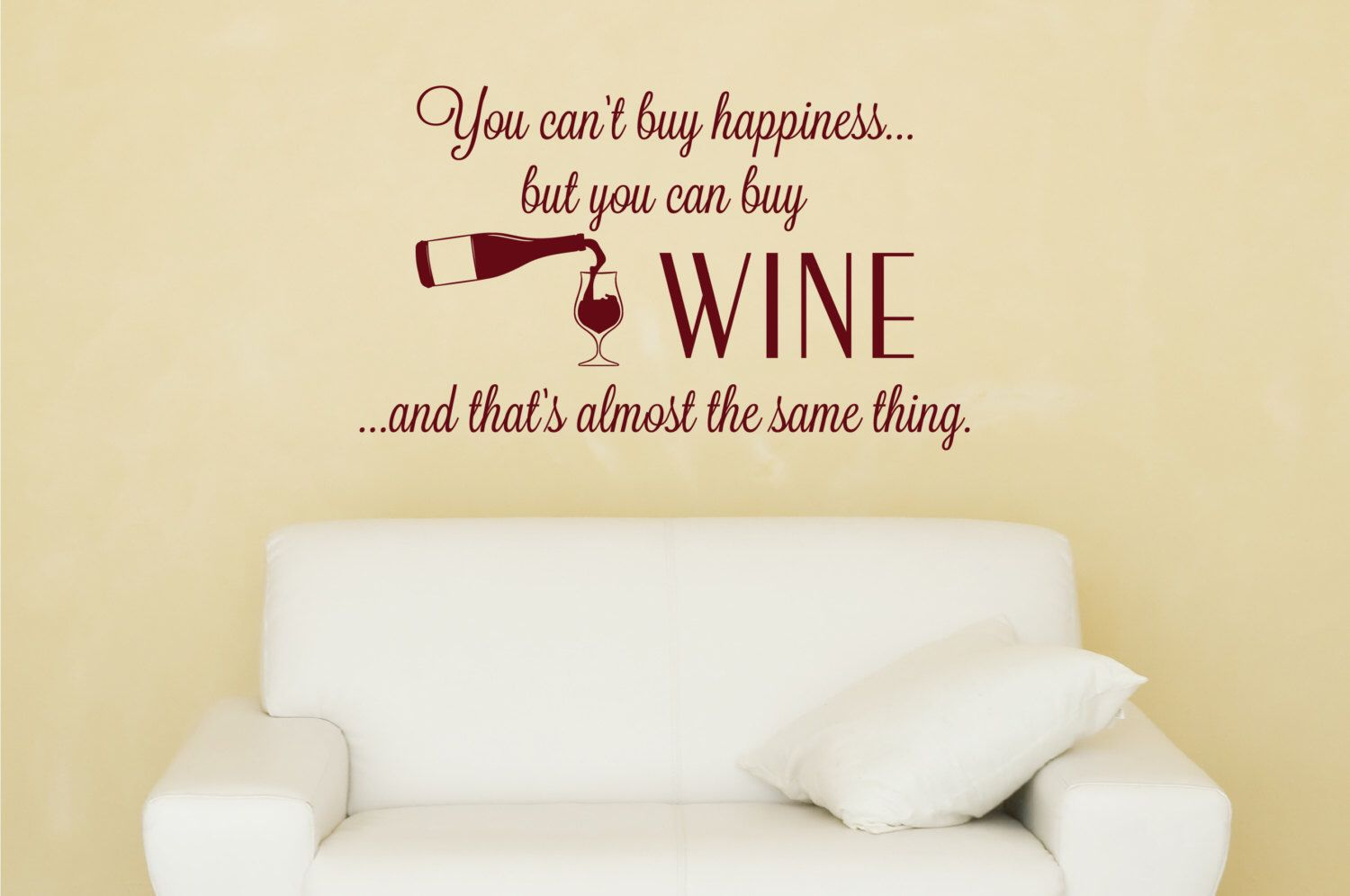 Wine Kitchen Wall Decal - Kitchen Vinyl Decal - Wine Decor - Wine ...