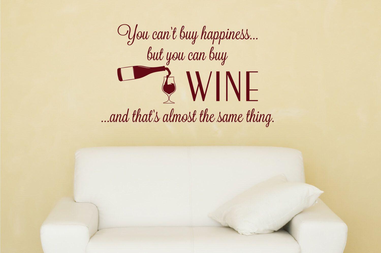 Wine Kitchen Wall Decal - Kitchen Vinyl Decal - Wine Decor - Wine ...