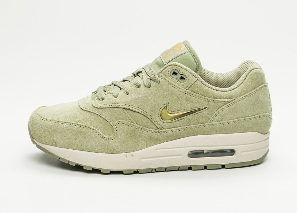 98a23ce8961484 Nike Air Max 1 Premium SC (Neutral Olive / Metallic Gold – Desert Sand #